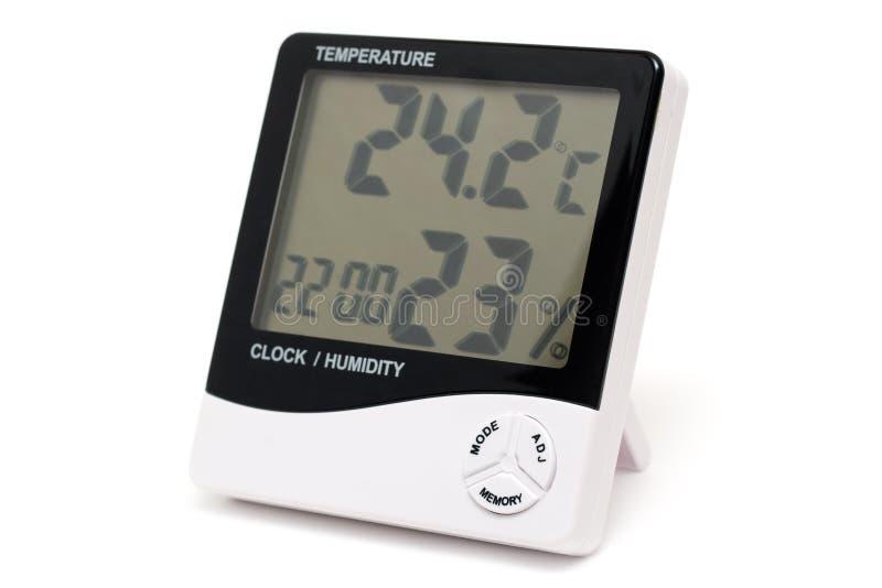 Digital-Thermometer und Hydrometer getrennt. stockfotografie