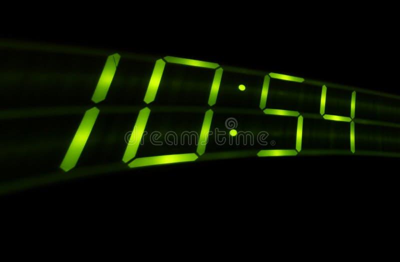 Digital time swish on black background stock photo