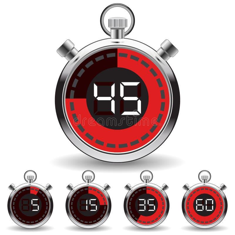 Digital timer royalty free illustration