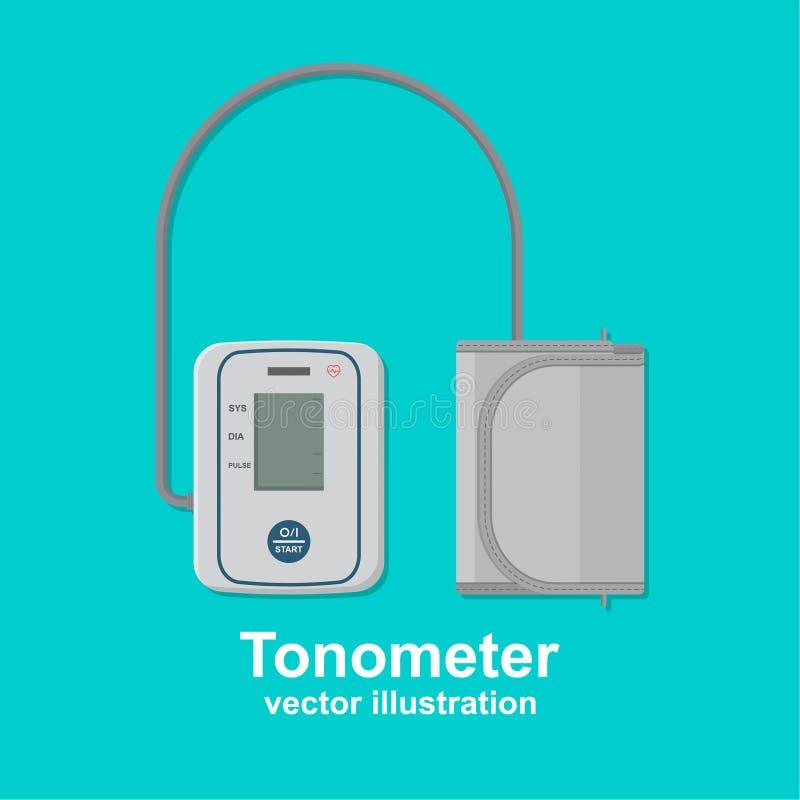 Digital tonometer vektor illustrationer