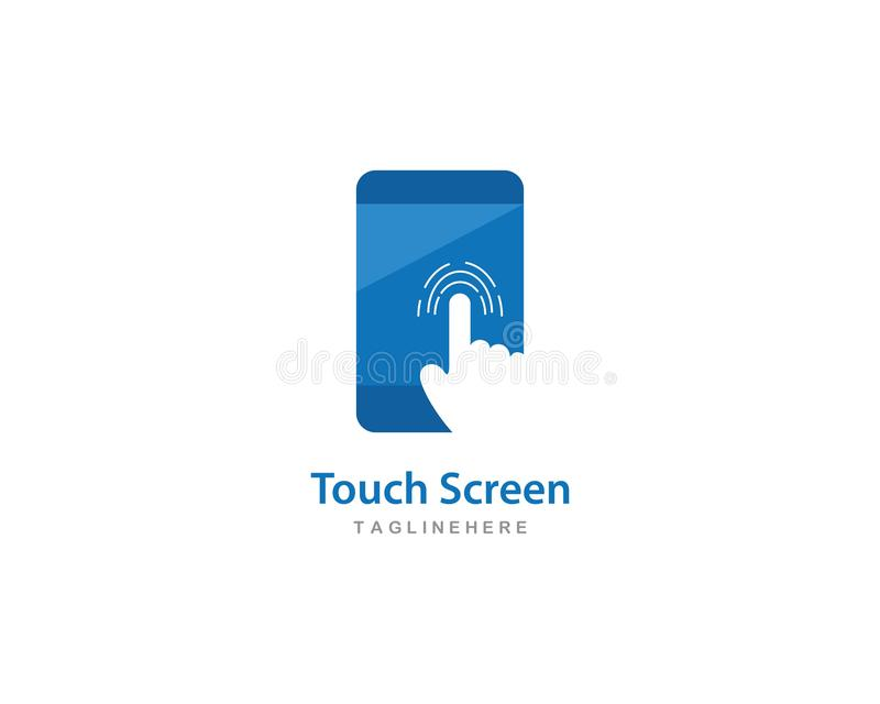 Digital touch screen technology logo. Vector royalty free illustration