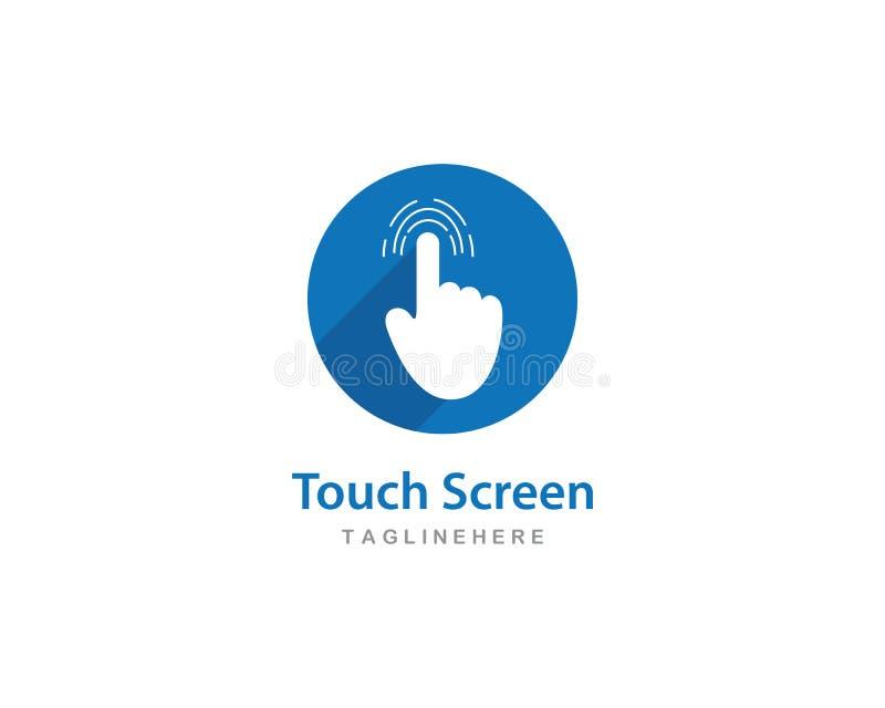 Digital touch screen technology logo. Vector vector illustration