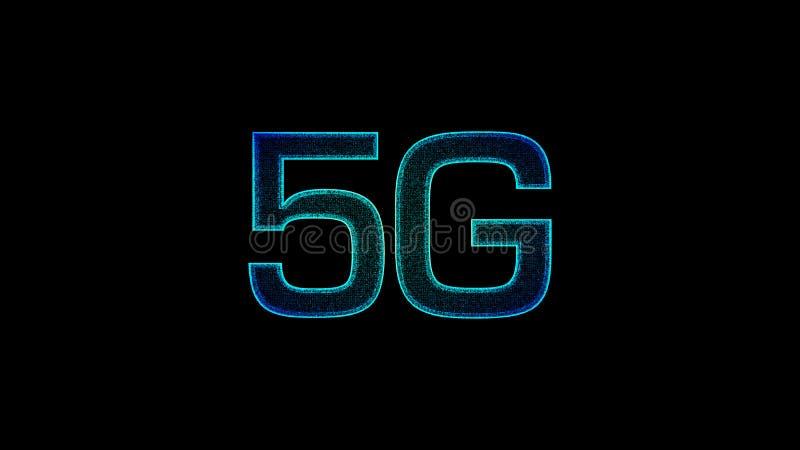 digital trådlös snabb femte innovativ utveckling för symbol 5G stock illustrationer