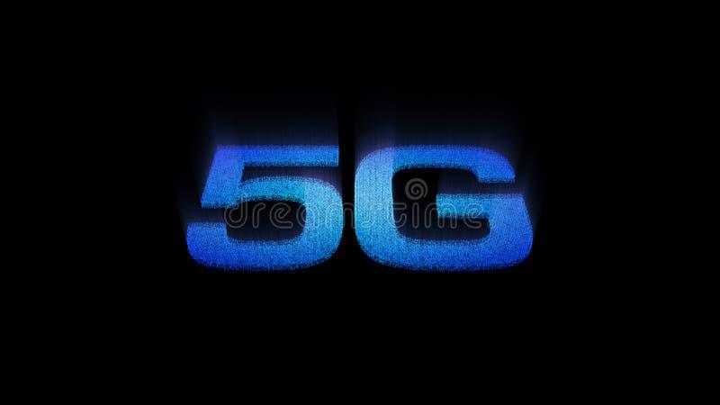 digital trådlös snabb femte innovativ utveckling för symbol 5G vektor illustrationer