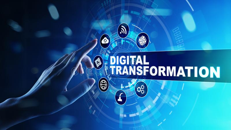 Digital transformation, disruption, innovation. Business and modern technology concept. Digital transformation, disruption, innovation. Business and modern royalty free stock photos