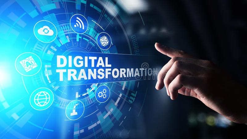 Digital transformation, disruption, innovation. Business and  modern technology concept. vector illustration