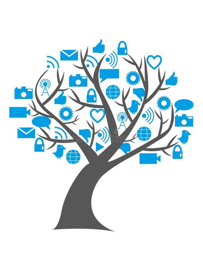 Digital social media tree royalty free stock photography