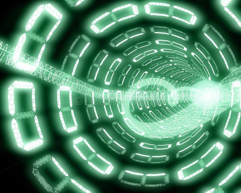 Digital tunnel vector illustration