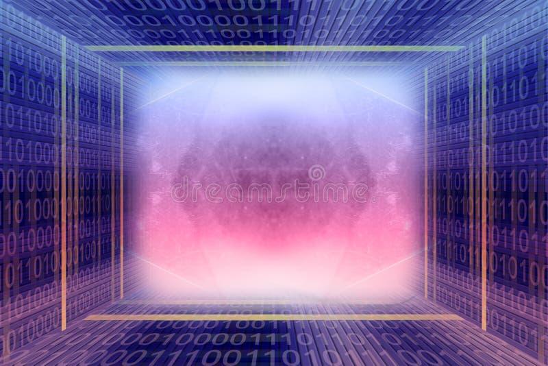 digital tunnel för binär kod royaltyfria bilder