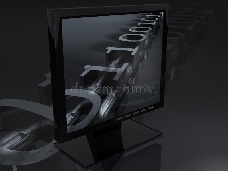 digital tv stock illustrationer