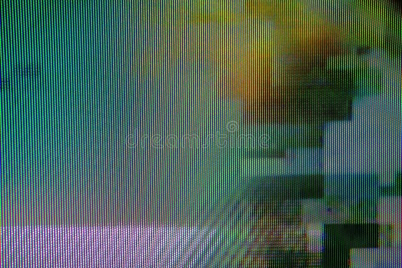 Digital TV broadcast glitch royalty free stock photo