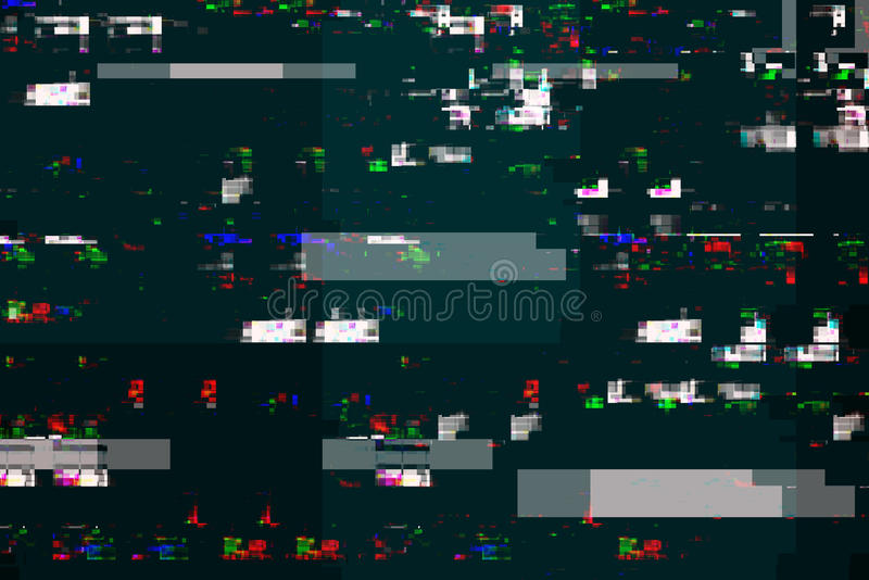 Digital tv damage, television broadcast glitch. Abstract technology background stock illustration