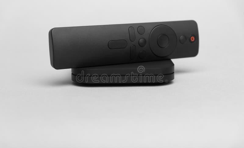 Digital TV på grå bakgrund arkivfoton