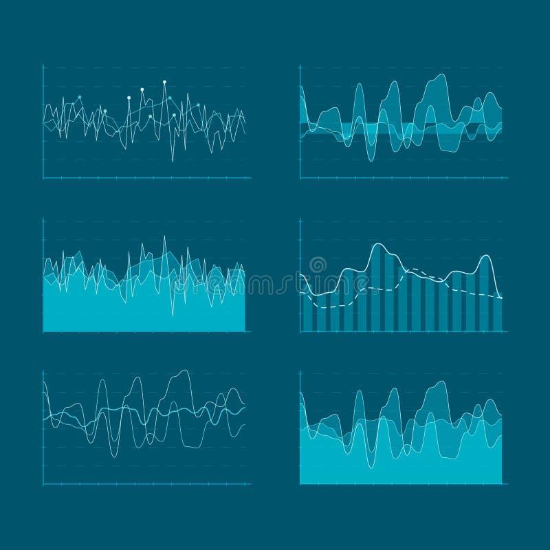 Digital-ui Elemente für HUD-Schnittstelle Anzeigen-Diagrammsatz des Kopfes hoher für Ihr Design Aufgliederungsdaten und Statistik vektor abbildung