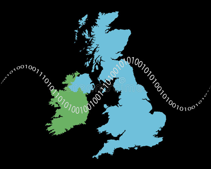 Digital UK communications royalty free illustration
