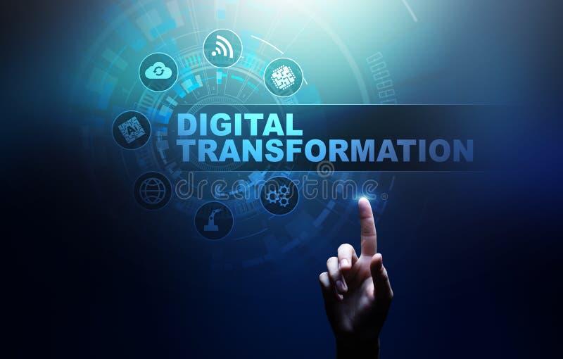 Digital-Umwandlung, Unterbrechung, Innovation Geschäft und modernes Technologiekonzept stockfoto