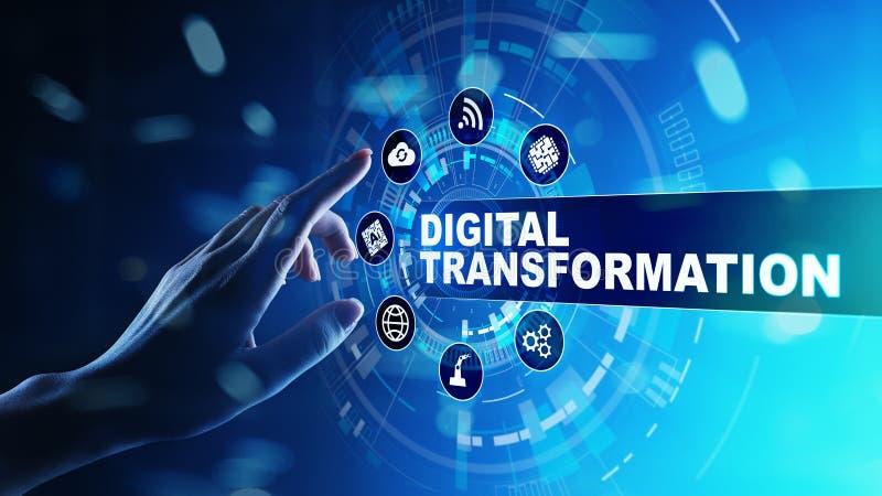 Digital-Umwandlung, Unterbrechung, Innovation Geschäft und modernes Technologiekonzept lizenzfreie stockfotos