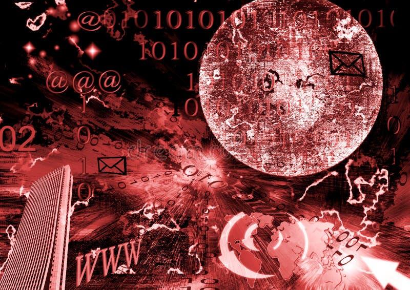 Digital universe. New technology conceptual illustration royalty free illustration