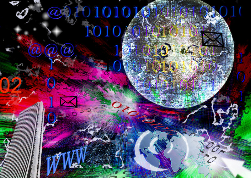 Digital universe. Digital concept and abstraction about communication connection digital world royalty free illustration