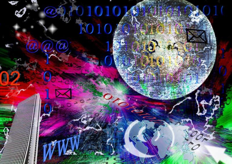 Digital universe royalty free illustration