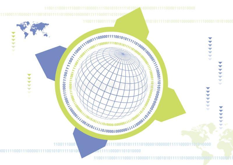 Digital värld stock illustrationer