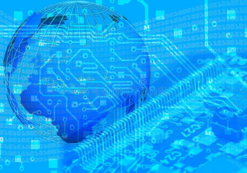 digital värld för begrepp royaltyfri bild