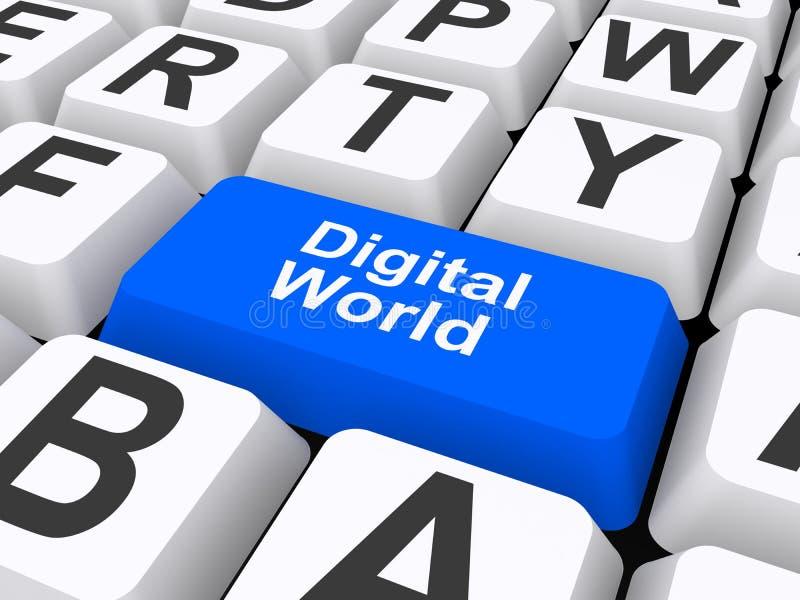 Digital världstangent stock illustrationer