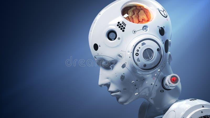 digital v?rld f?r science fictionkvinna royaltyfri illustrationer