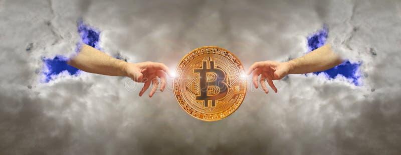 Digital valuta för Bitcoin cryptocurrencybörjan arkivfoton