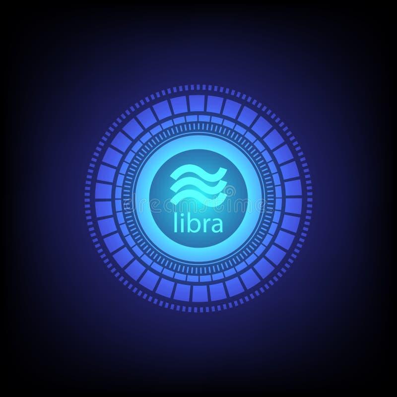 Digital valuta för Vågcryptocurrency vektorbakgrund för teknologiaffär royaltyfri illustrationer