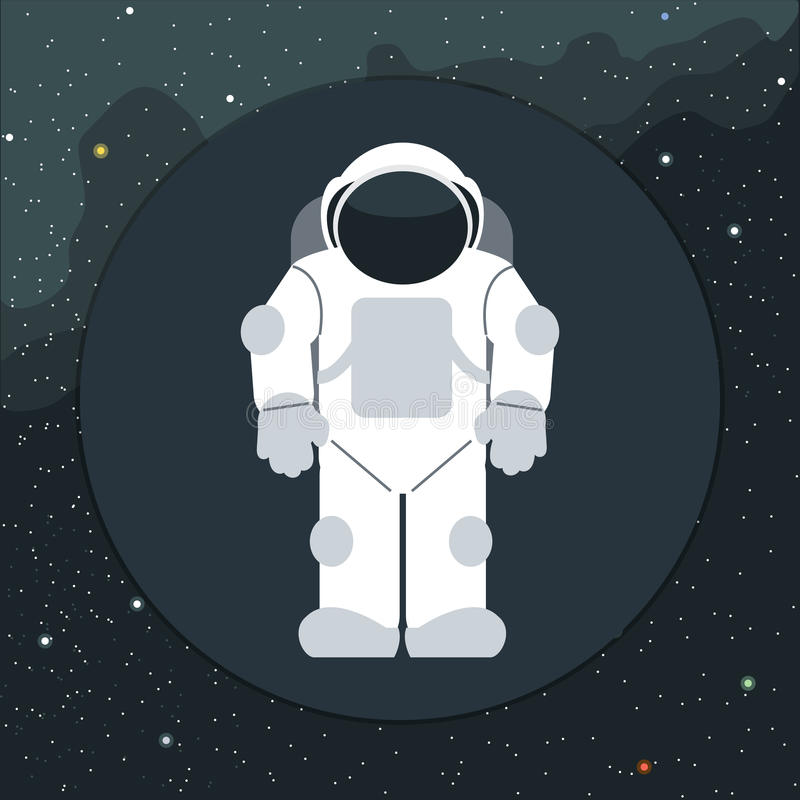 Digital vector with astronaut in space icon vector illustration
