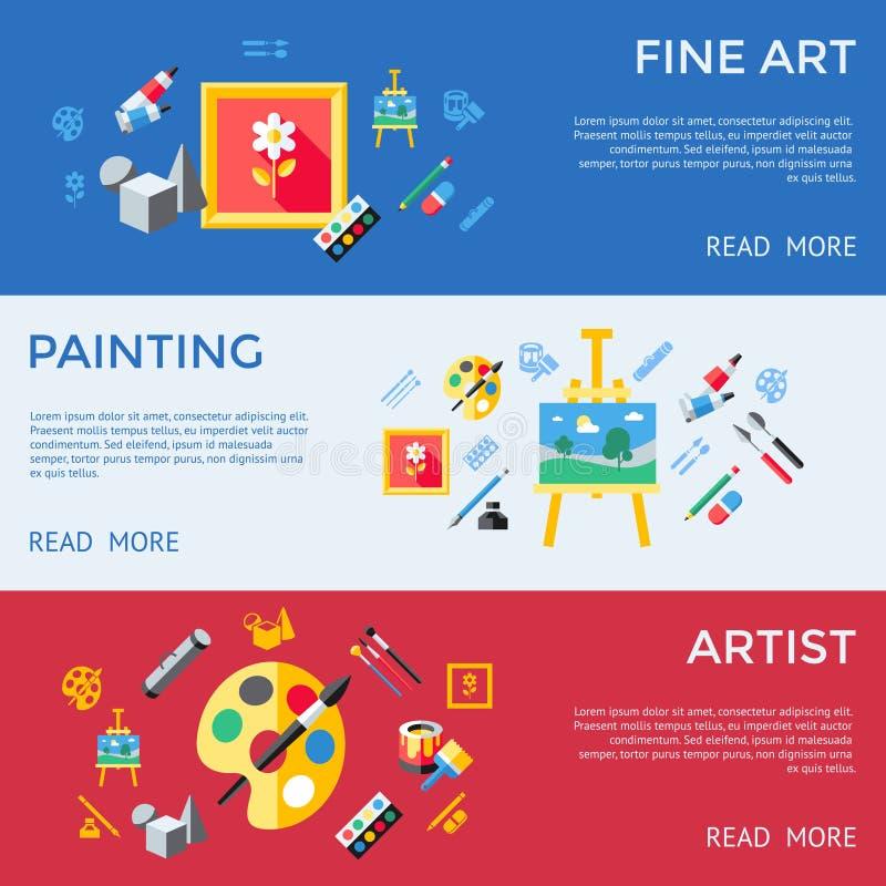 Digital vector blue red artist vector illustration