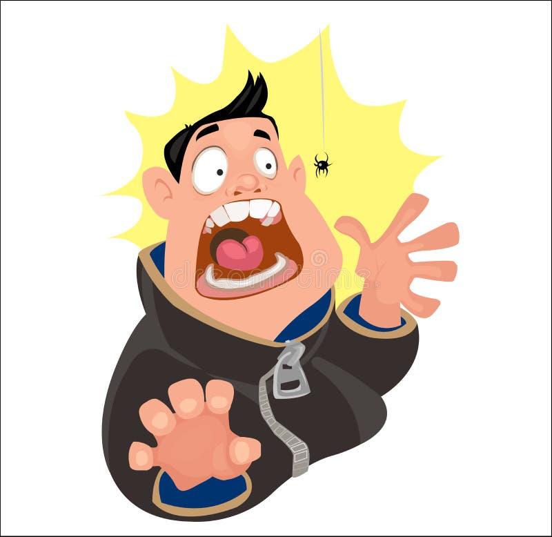 Digital vector funny cartoon man vector illustration