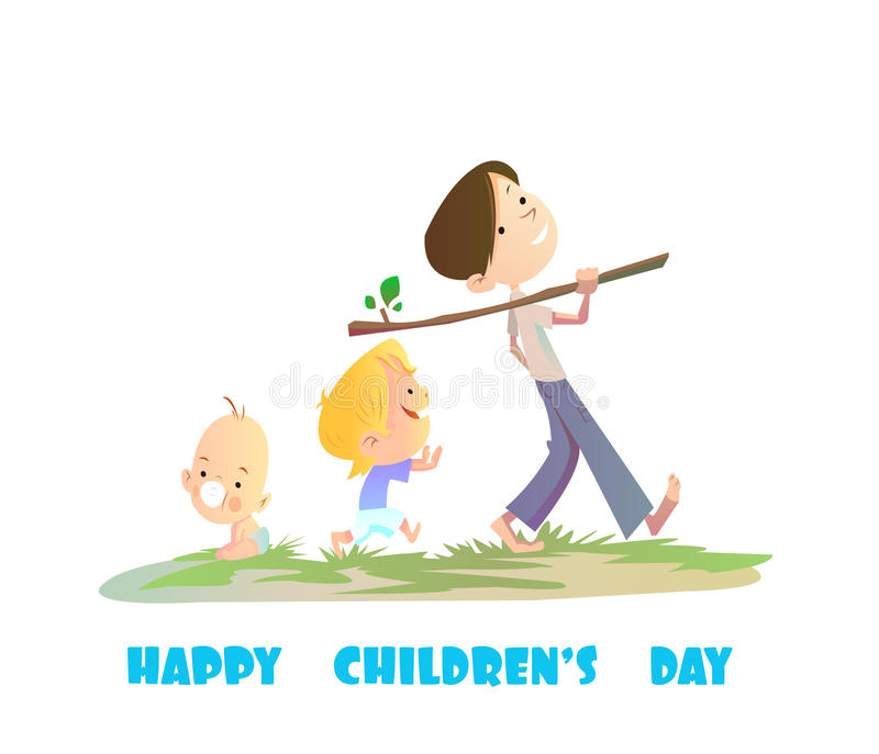 Digital vector happy children day card royalty free illustration