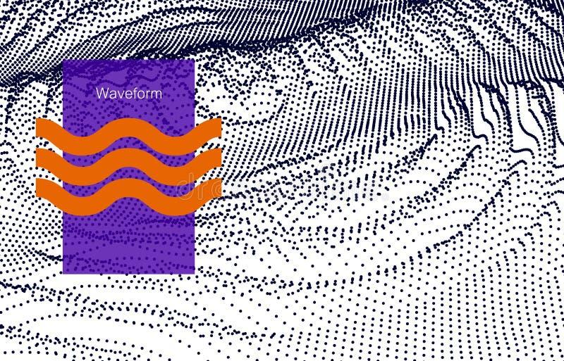 Digital vektoryttersida Stojad krusning i cyberutrymmet teknisk illustration royaltyfri illustrationer