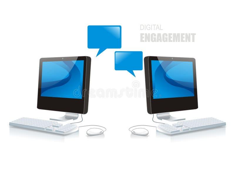 Digital-Verpflichtung stock abbildung