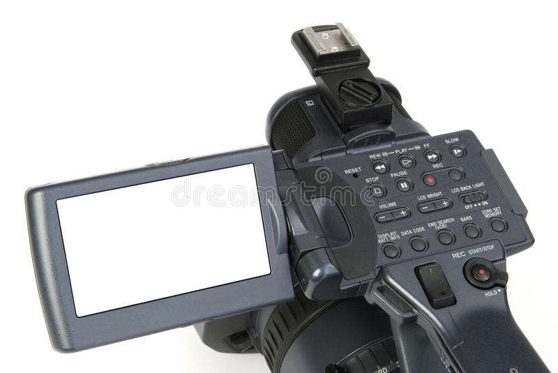 Download Digital video camera stock image. Image of record, isolated - 10836025