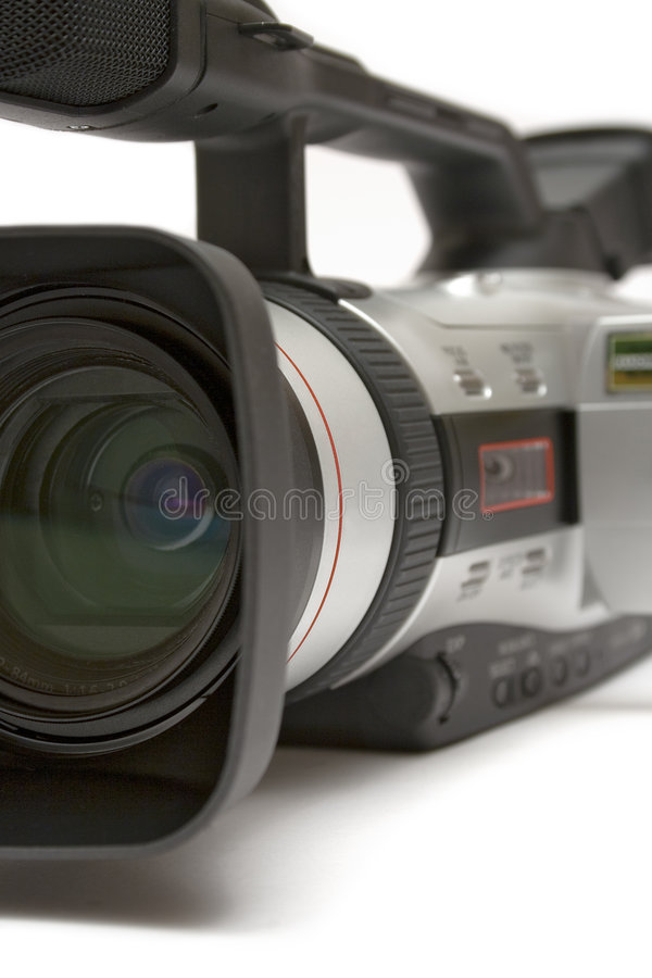 Digital Video Camera (Detail Front-Side View) royalty free stock image