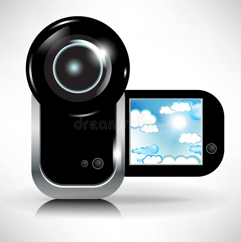 Download Digital Video Camera Recording Sky And Clouds Stock Vector - Illustration: 22505462