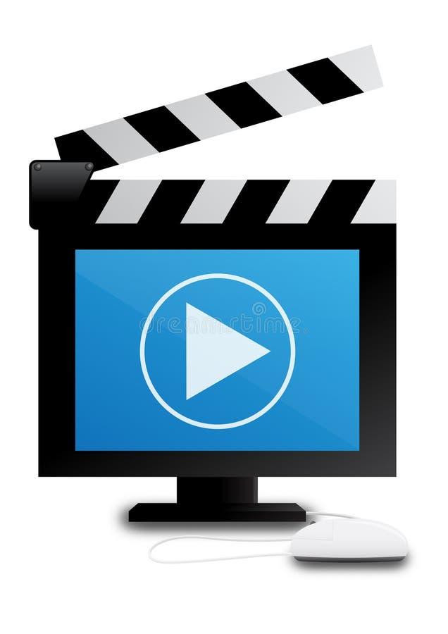 Digital video Clapper vector illustration