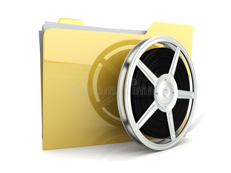 Digital Video Folder royalty free illustration