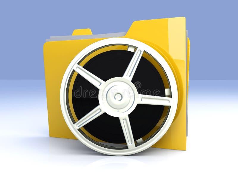 Digital Video Folder. 3D rendered Illustration. Digital Video Folder vector illustration