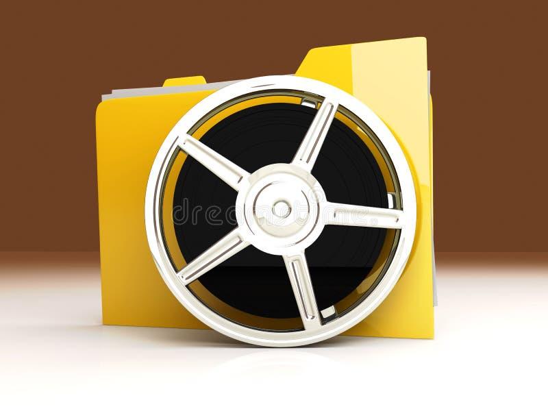 Digital Video Folder. 3D rendered Illustration. Digital Video Folder stock illustration