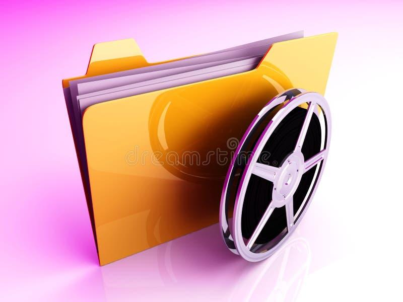 Digital Video Folder. 3D rendered Illustration. Digital Video Folder royalty free illustration