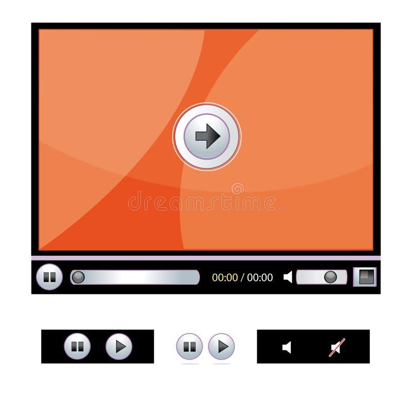 Digital-Video-Player stock abbildung