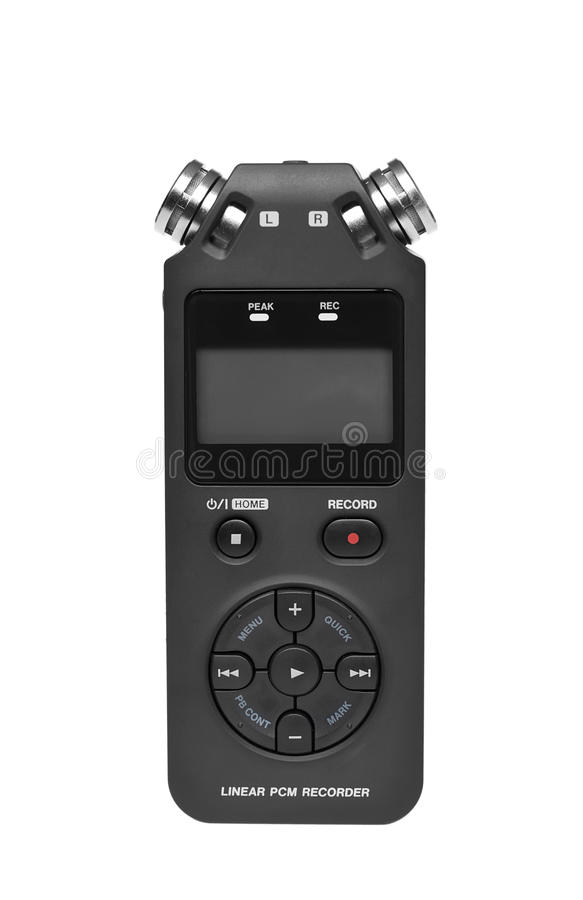 Digital voice recorder royalty free stock photo