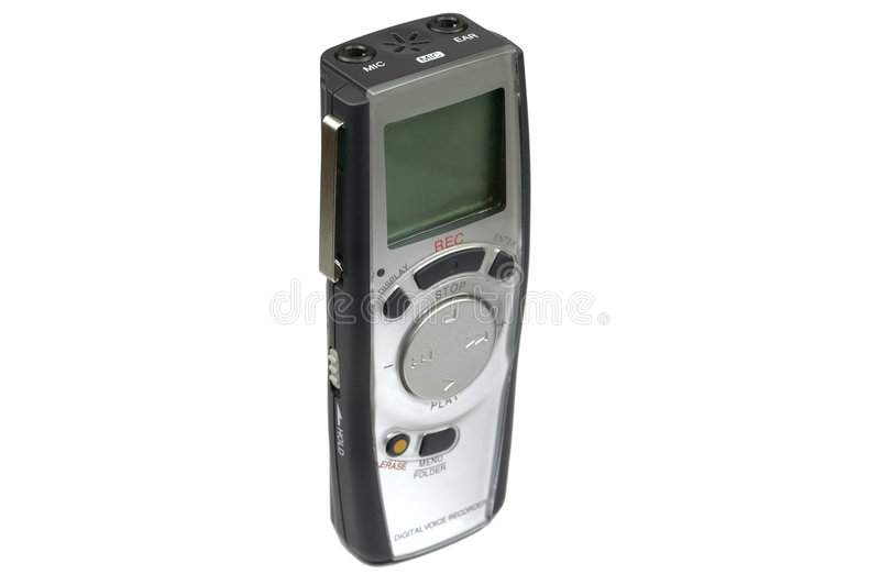 Digital Voice recorder upright stock photo