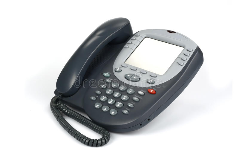 Digital VoIP phone (isolated on white) royalty free stock photo