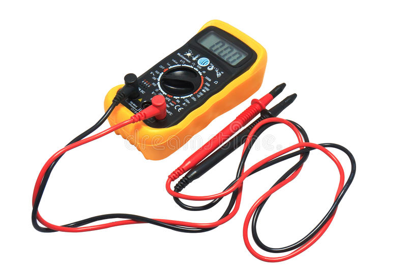 Download Digital Voltage Meter Isolate On White Stock Photo - Image: 20415158