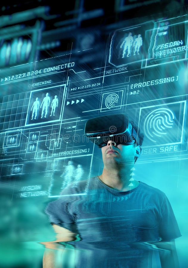 Digital VR Future royalty free stock photos